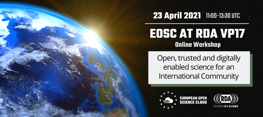 EOSC at RDA Virtual Plenary 17